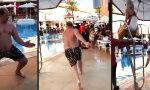 Lustiges Video : Real-Life Family Guy failt in den Pool